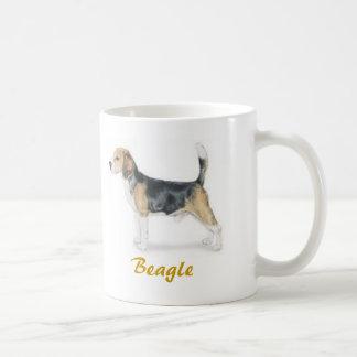 ¡Beagle, amante del perro a montones! Taza Básica Blanca