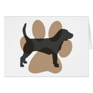 Beagle and Pawprint Card