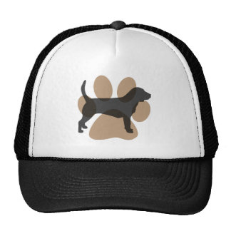 Beagle and Pawprint Trucker Hat