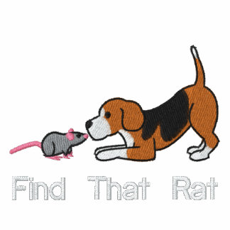 Beagle and Rat Embroidered