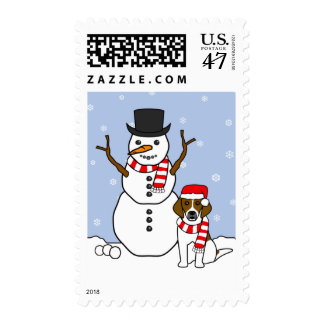Beagle and Snowman Postage