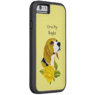 Beagle and Yellow Roses Tough Xtreme iPhone 6 Case