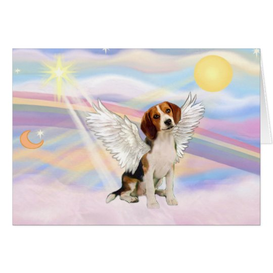 Beagle Angel Card