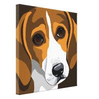 canvas dog art