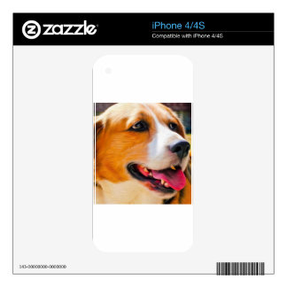 Beagle art iPhone 4 skin