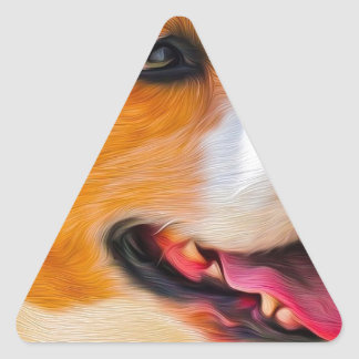 Beagle art triangle sticker