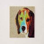 Beagle artístico rompecabeza
