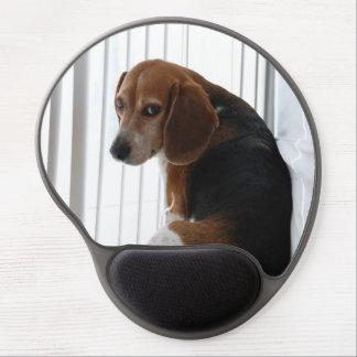 beagle attitude gel mouse pad
