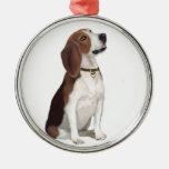 Beagle (B) - Looking up Christmas Tree Ornament