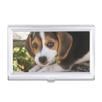 Beagle Baby Dog Business Card Holder