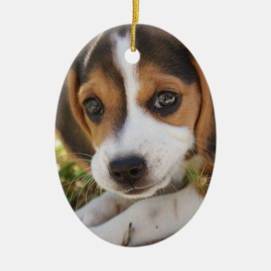 Beagle Baby Dog Ceramic Ornament