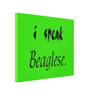 Beagle Bark - Green Background Canvas Print