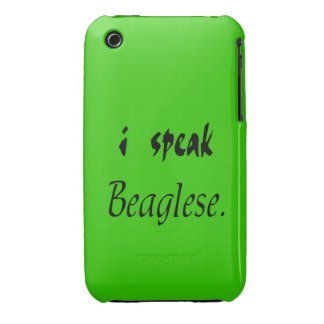 Beagle Bark - Green Background iPhone 3 Cases