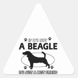 BEAGLE best friend designs Triangle Sticker