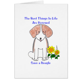 Beagle Best Things In Life Card