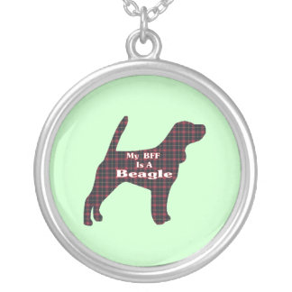 Beagle BFF Silver Plated Necklace