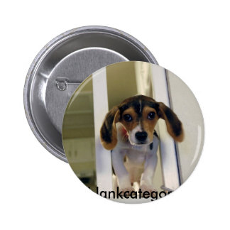beagle, blankcategory 2 inch round button