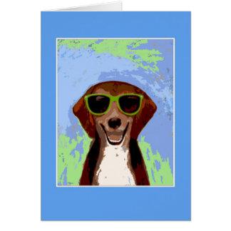 Beagle - blue frame 2 card