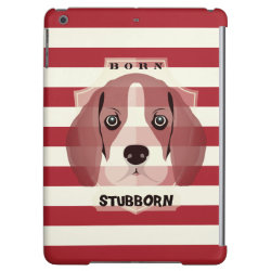 Case Savvy Glossy Finish iPad Air Case with Beagle Phone Cases design
