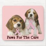 Beagle Breast Cancer Mousepad