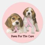 Beagle Breast Cancer Sticker