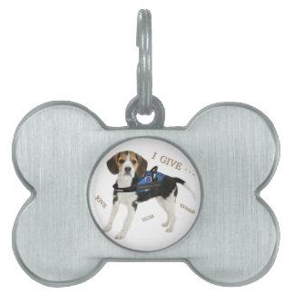 Beagle Brings Comfort Dog Pet Tag