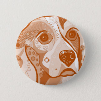 Beagle Brown Tones Pinback Button