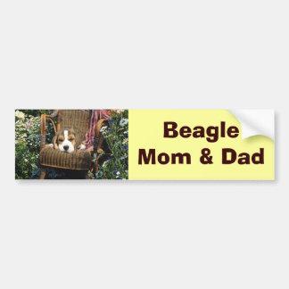 Beagle Bumper Sticker Garden Chair