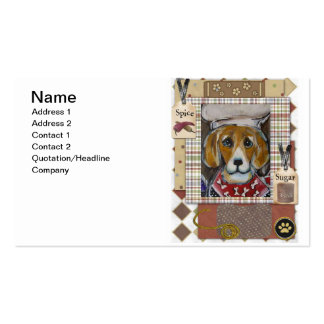 Beagle Double-Sided Standard Business Cards (Pack Of 100)