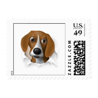 Beagle Busting Out - Customized Postage