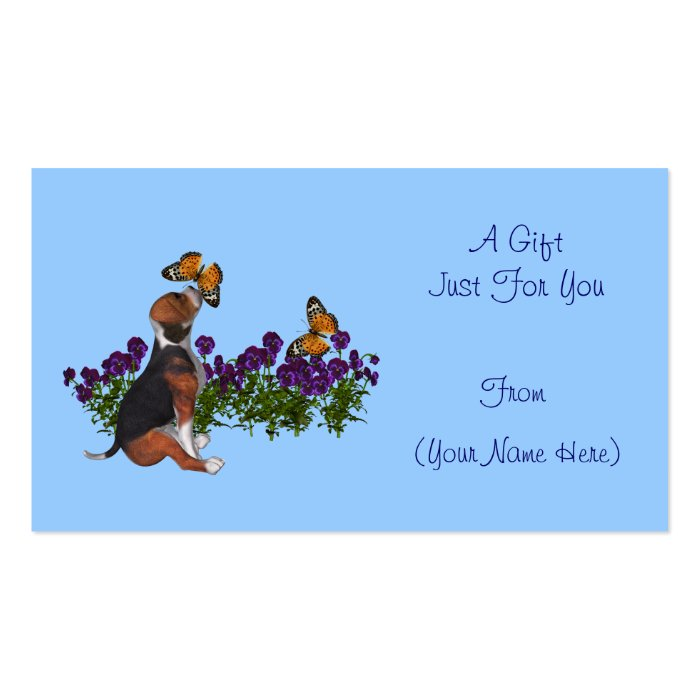 Cute personalized gift card tag business cards for Personalized gift cards for businesses