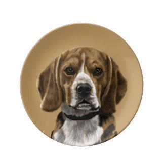 Beagle called Jones Porcelain Plate