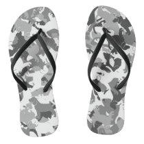 Beagle camouflage flip flops