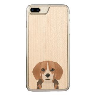 Beagle cartoon carved iPhone 7 plus case