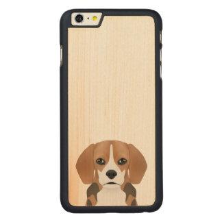 Beagle cartoon carved® maple iPhone 6 plus case