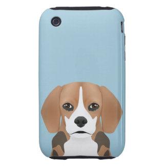 Beagle cartoon tough iPhone 3 case