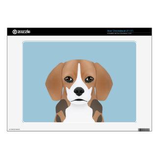 Beagle cartoon decal for acer chromebook