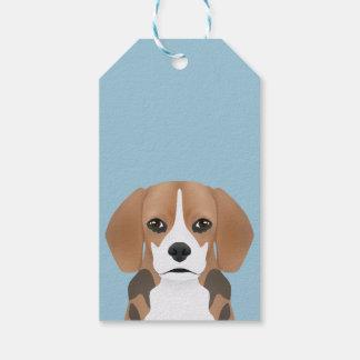 Beagle cartoon gift tags