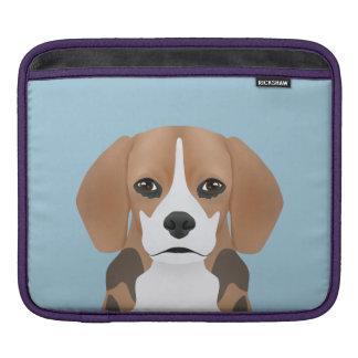 Beagle cartoon iPad sleeve