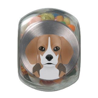 Beagle cartoon jelly belly candy jar