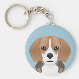 Beagle cartoon keychain