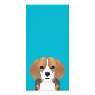 Beagle cartoon photo card
