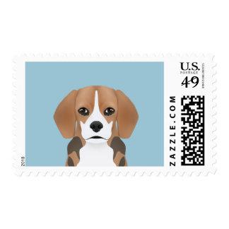 Beagle cartoon postage