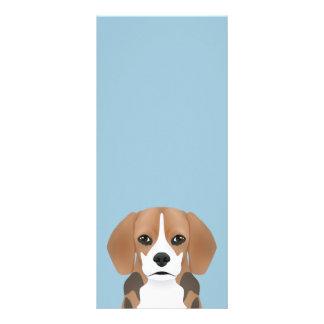 Beagle cartoon rack card