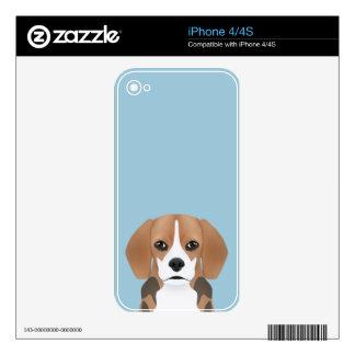 Beagle cartoon skins for iPhone 4S