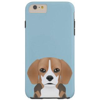 Beagle cartoon tough iPhone 6 plus case