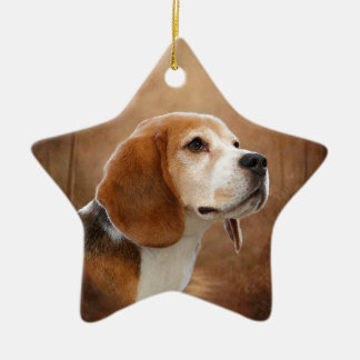 Beagle Ceramic Ornament