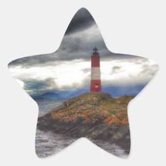 Beagle Channel Lighthouse Star Sticker