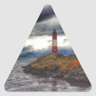 Beagle Channel Lighthouse Triangle Sticker