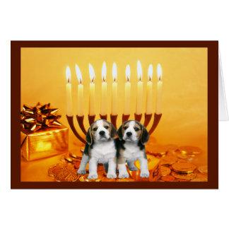 Beagle Chanukah Card Menorah2